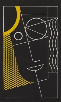 modern head #2 by roy lichtenstein