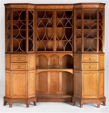 arts u0026 crafts bookcase cabinet by george washington jack & Arts Crafts bookcase cabinet by George Washington Jack on artnet