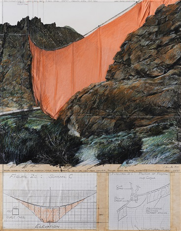 Valley Curtain Project for Colorado Rifle by Christo and Jeanne ...