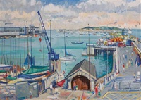east pier, dun laoghaire harbour by brian quinn