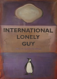 international lonely guy - yes it hurts to smile by harland miller