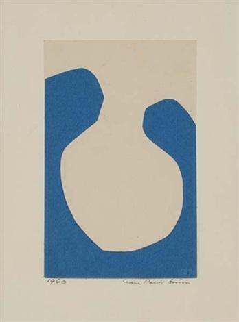 blue eggshell collage by leon polk smith