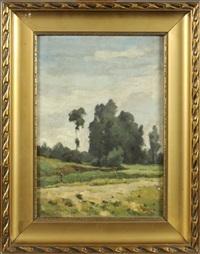 paysage by edouard jules joseph huberti