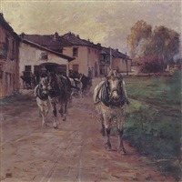 sfilata di cavalli by leonardo roda