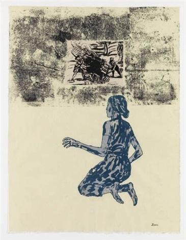 kneeling woman by nancy spero