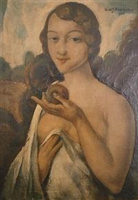 vrouwenportret by theodore verschaeren