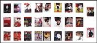 magazine covers series (26 works on 1 sheet) by iké udé