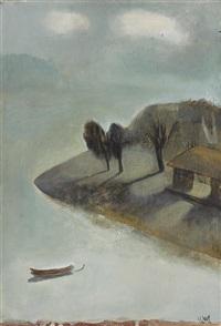 ohne titel (seelandschaft mit pavillion) by leng hong