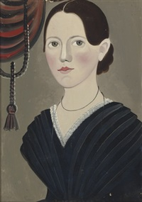 portrait of a woman with black hair by william kennedy