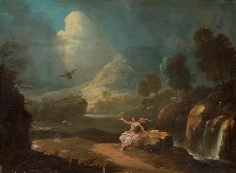 landscape with st john by gabriel perelle