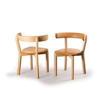 zwei stühle crest rail chair nr. 7 (pair) by jörgen gammelgaard