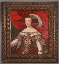 portrait of mariana of austria, queen consort of spain by diego rodríguez de silva y velásquez