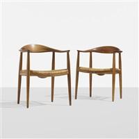 the chairs (pair) by hans j. wegner
