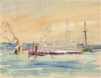the thames at tilbury (+ the promenade; 2 works) by robert graham dryden alexander
