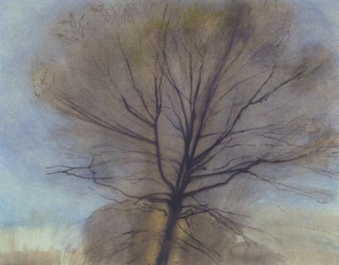 tree study by sylvia plimack mangold