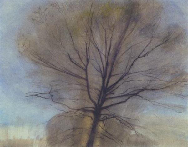 tree study by sylvia plimack mangold
