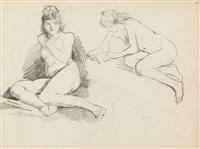 akt- und figurenstudien aus einem skizzenbuch (33 works from a sketchbk) by wilhelm trübner