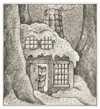 owl at home (study for the title page of owl at home) by arnold lobel