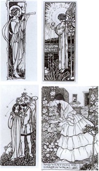illustrations for tennyson's guinevere and other poems (54 works) by emma harrison