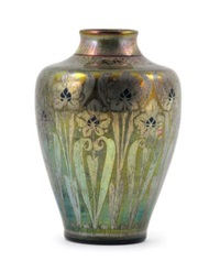 lancastrian vase (painted by charles cundall) by pilkington