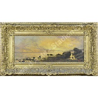 marina al tramonto by giacinto bo