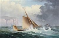 racing yachts at the heads by charles f. gerrard