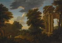 landscape with ruins by george lambert