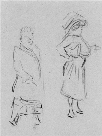 630b787fcaafb3 Zwei Frauen auf der Strasse by Heinrich Zille on artnet