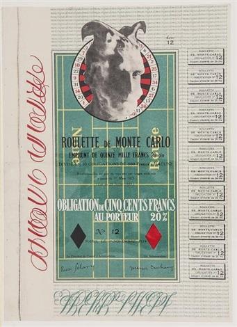 obligations pour la roulette de monte carlo monte carlo band by marcel duchamp