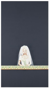 dark painting with girl as child bride (in 2 parts) by su-en wong
