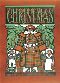 st. nicholas for young folks (cover for the christmas number, december) by william bradley