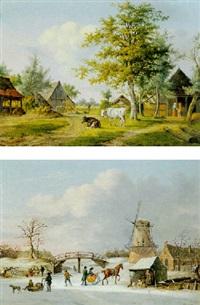 a summer landscape by anthony oberman