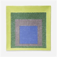 study for homage to a square platter by josef albers