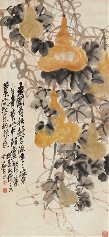 yellow gourds leaves and scrolls by zhao yunhe