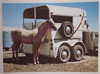 horse and trailer by richard mclean