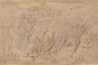 die verleugnung des petrus (+ der sturz des saulus; works) by josef leopold strickner