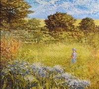 rachel in summer meadows by alan cotton