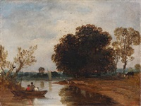 the river bank by théodore rousseau