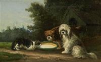 extérieur avec chiens by édouard-joris moerenhout