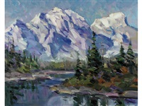 mountains and river by fred cameron