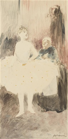 ballet student and her dresser by jean louis forain
