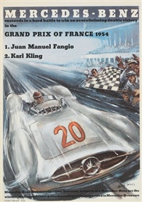 mercedes-benz/grand prix of france by hans liska