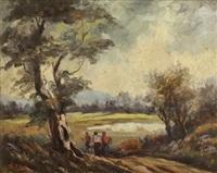 three figures on a path by adelio zeelie (zagnie)