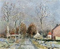chemin de village by albert saverys