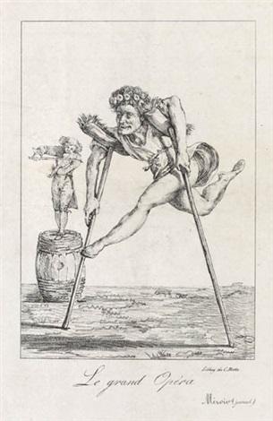 le grand opéra * faust, méphistophélès et le marbet * hamlet et ophélie * le chant d'ophélie (4 works, various dates, sizes and states) by eugène delacroix