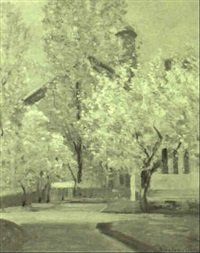 ipswich church in spring by theodore wendel