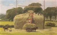 gathering hay by william james ferguson