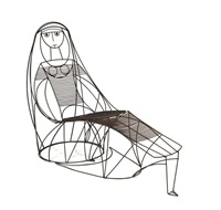 lady chair and ottoman by john risley