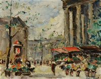 parisian city views (2 works) by andre picot