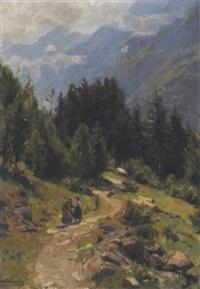 spaziergang in den dolomiten, tirol by konrad ludwig lessing